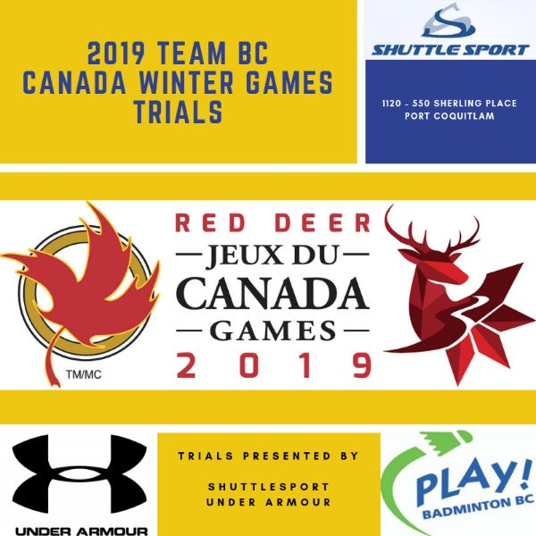 2019 Team BC Canada Winter Games Qualifier Event#1