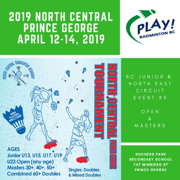 2019 North Central U23, Open and Masters Tournament