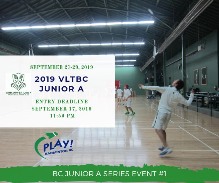 2019 VLTBC Junior A Open | BC Junior A Series Event #1