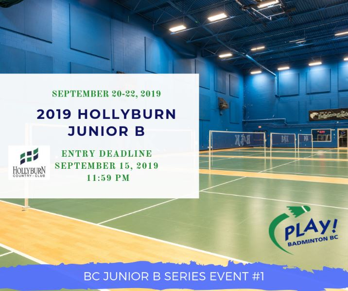 2019 Hollyburn Junior B Open | BC Junior B Series Event #1