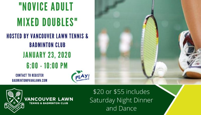 Novice Mixed Doubles VLTBC Recreational Event