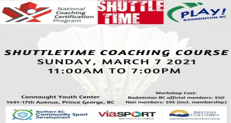 NCCP COACHING COURSE - SHUTTLETIME