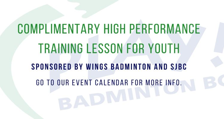 COMPLIMENTARY HIGH PERFORMANCE TRAINING LESSON FOR YOUTH